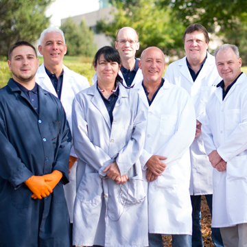 Allentown Optical's team of lab technicians